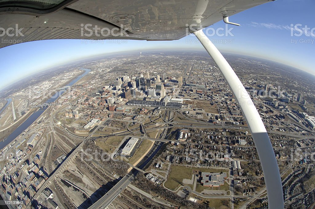 Kansas City Aerial royalty-free stock photo