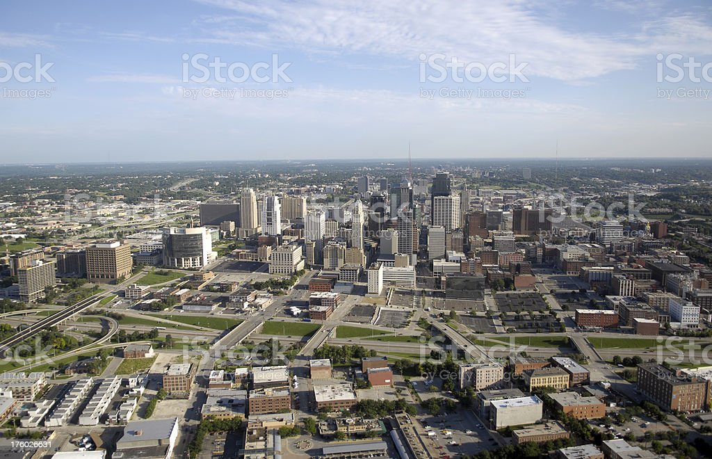 Kansas City - Aerial View stock photo