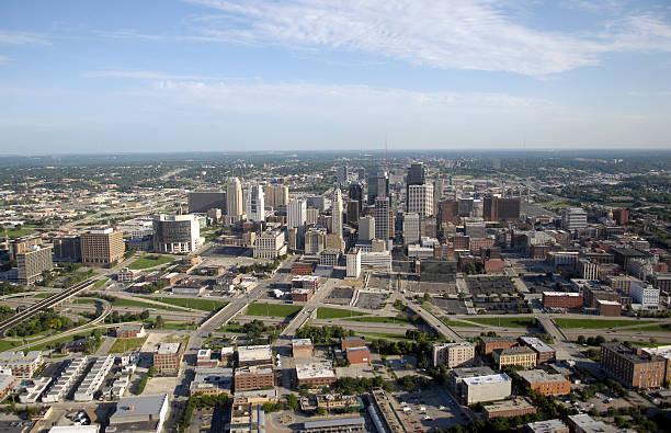 Kansas City - Aerial View stock photo