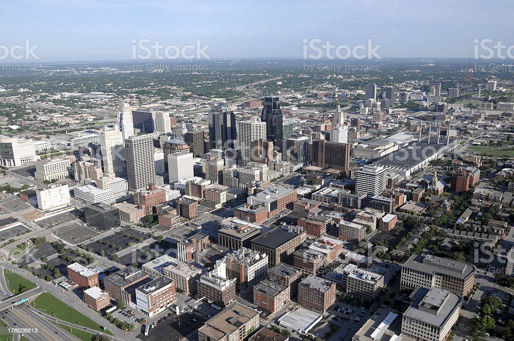 Kansas City Aerial View SE stock photo