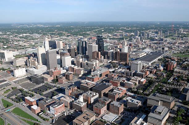 Kansas City Aerial View SE stock photo
