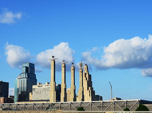Kansas City Bartle Hall Towers Daytime stock photo