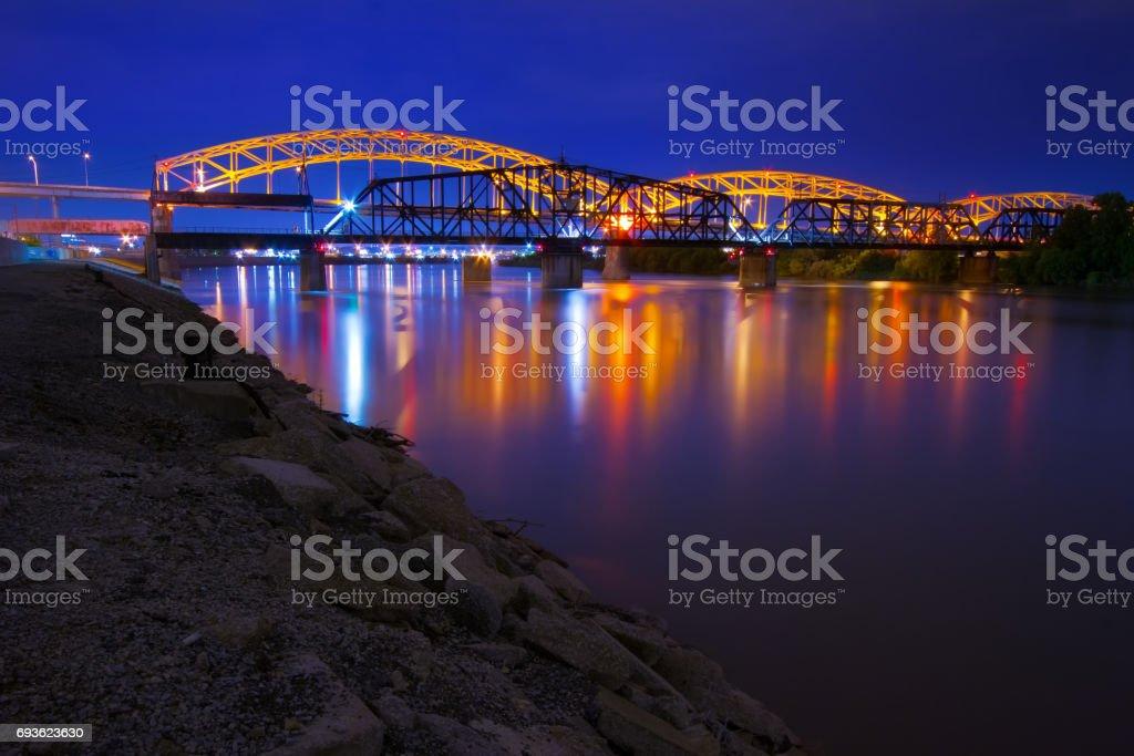 Kansas City Broadway Bridge stock photo