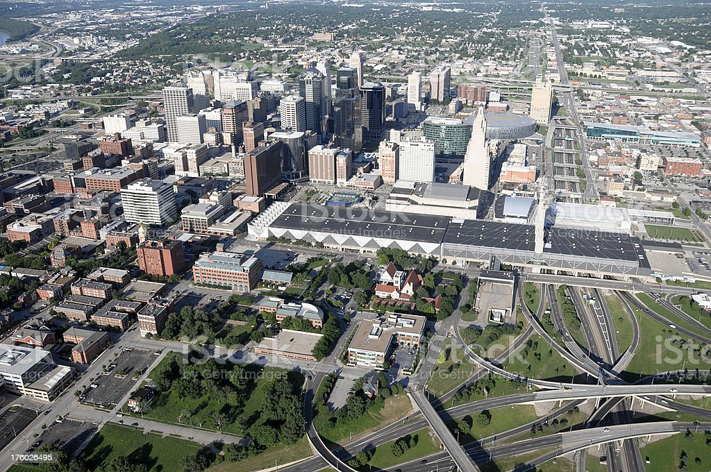 Kansas City Central Downtown Area stock photo