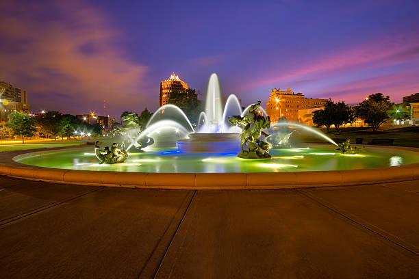 Kansas City Fountains stock photo