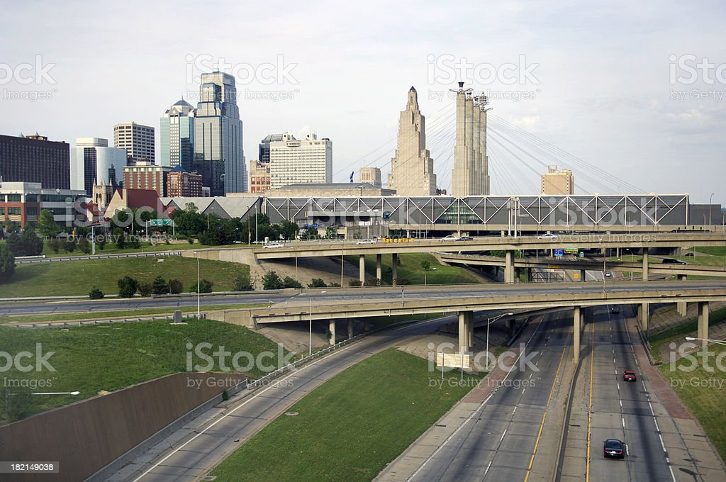 Kansas City Highways royalty-free stock photo