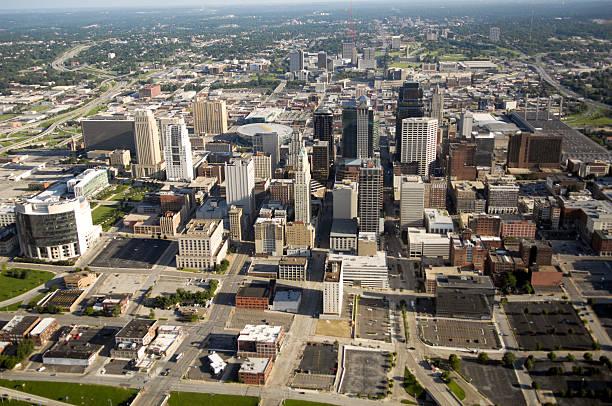 Kansas City Missouri - Aerial View stock photo
