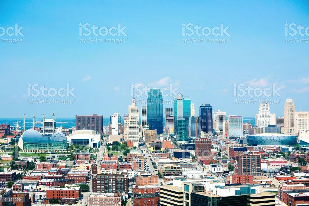 Kansas City Missouri Downtown stock photo