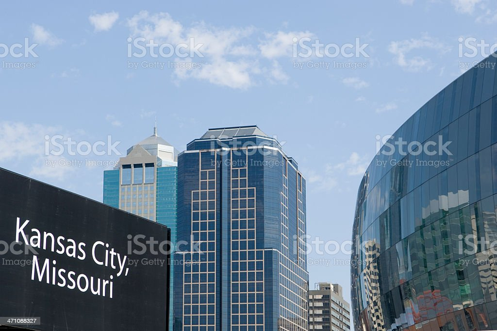 Kansas City Missouri Skyline Features royalty-free stock photo