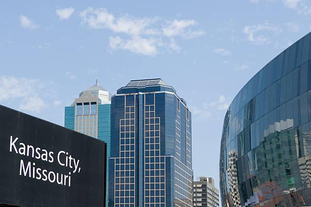 Kansas City Missouri Skyline Features stock photo