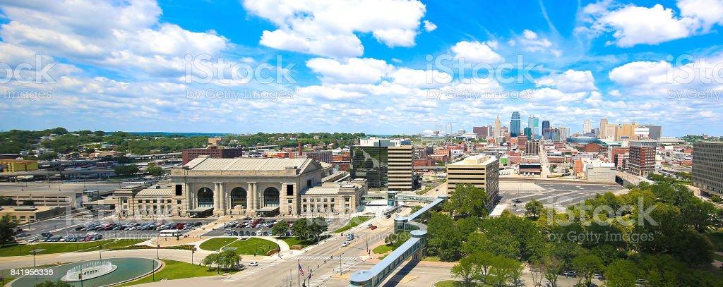 Kansas City Missouri Skyline Panorama stock photo