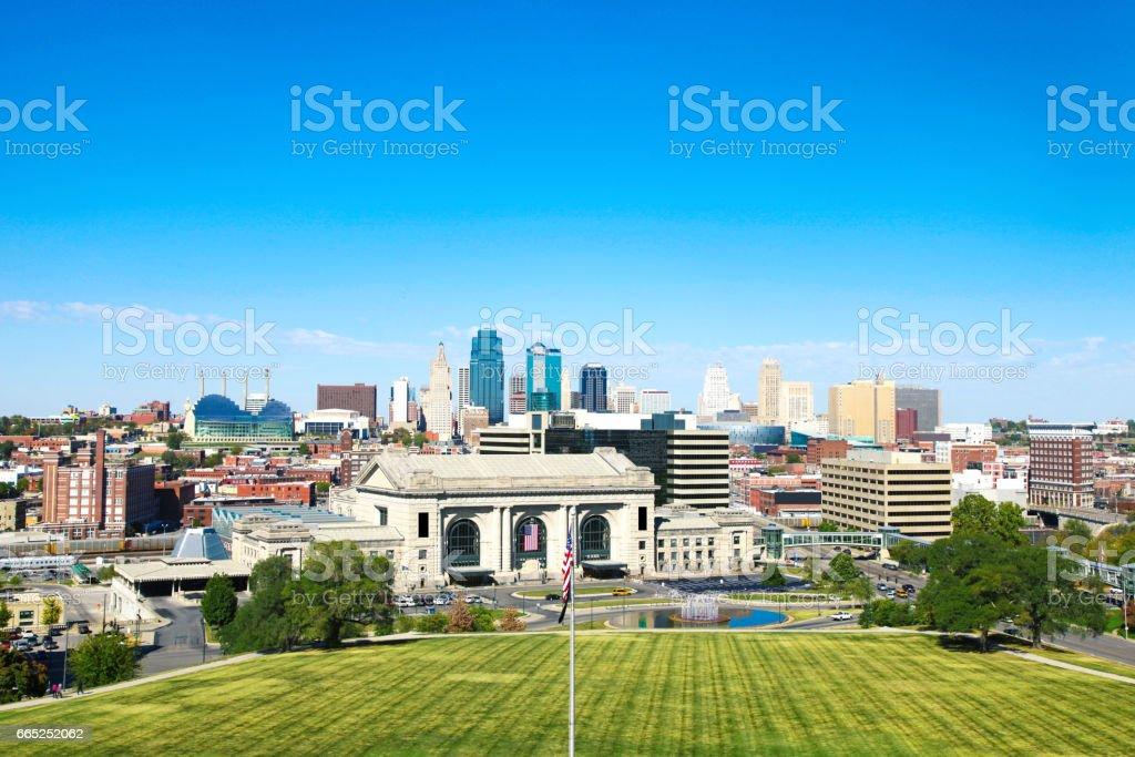 Kansas City Missouri Union Station Skyline stock photo