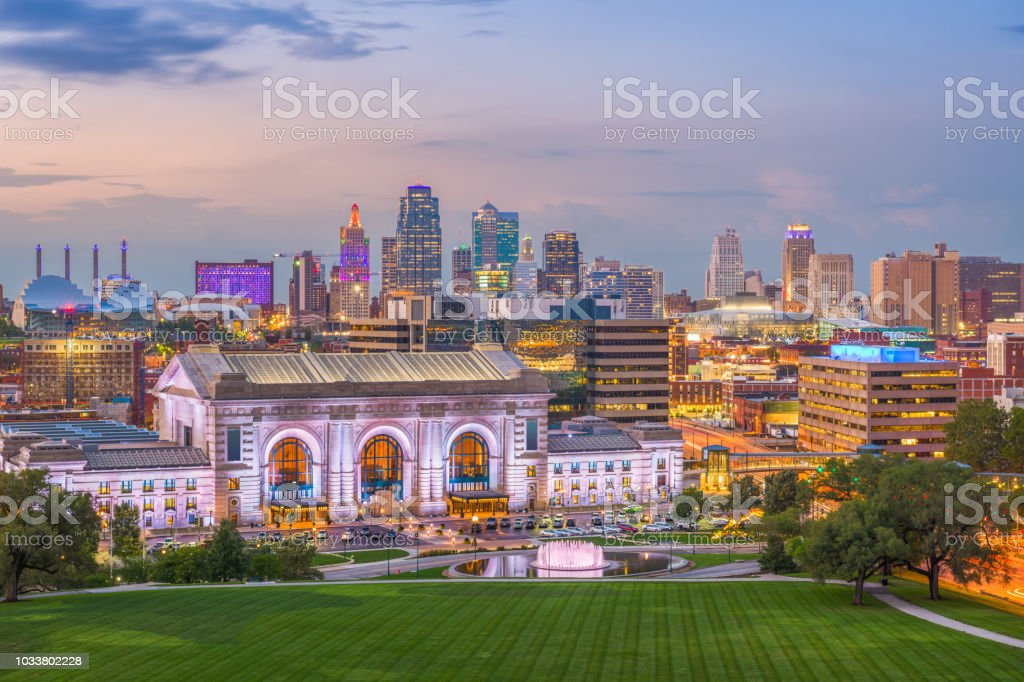 Kansas City, Missouri, USA Skyline stock photo
