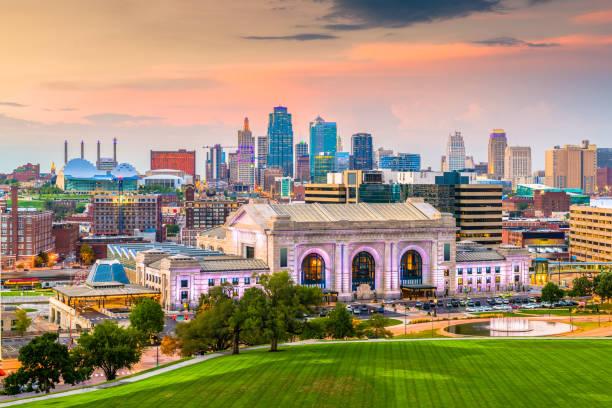 坎薩斯城, 密蘇里州, 美國天際線 - st louis 個照片及圖片檔