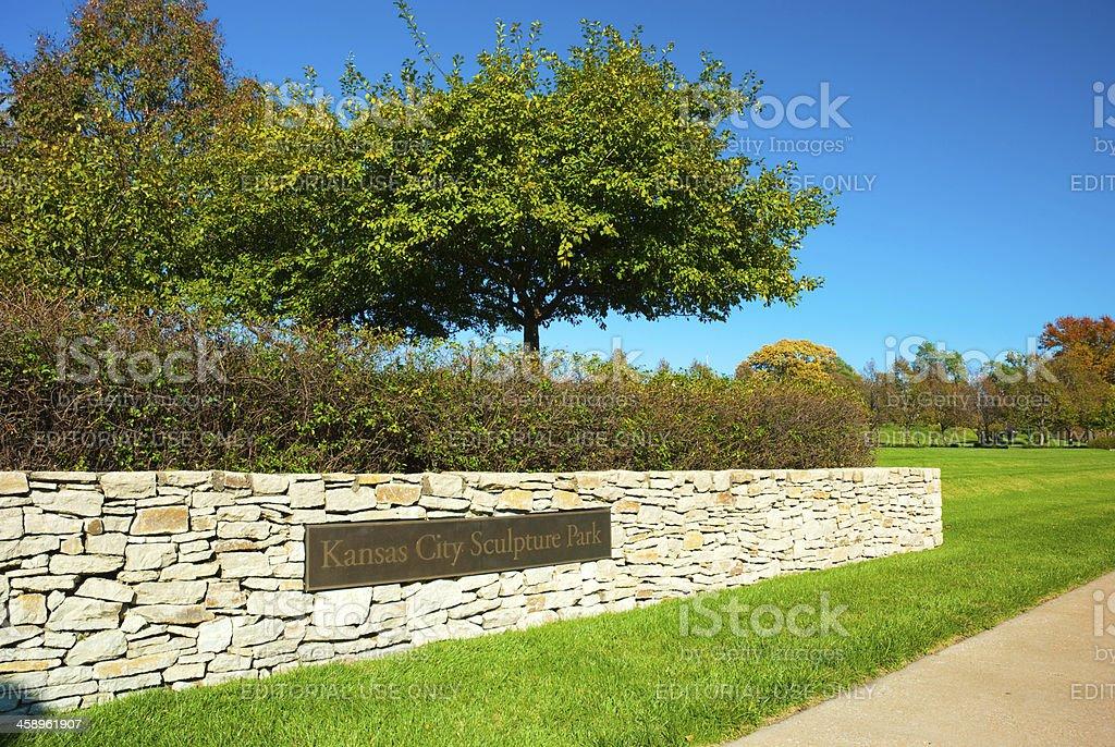Kansas City Sculpture Park stock photo