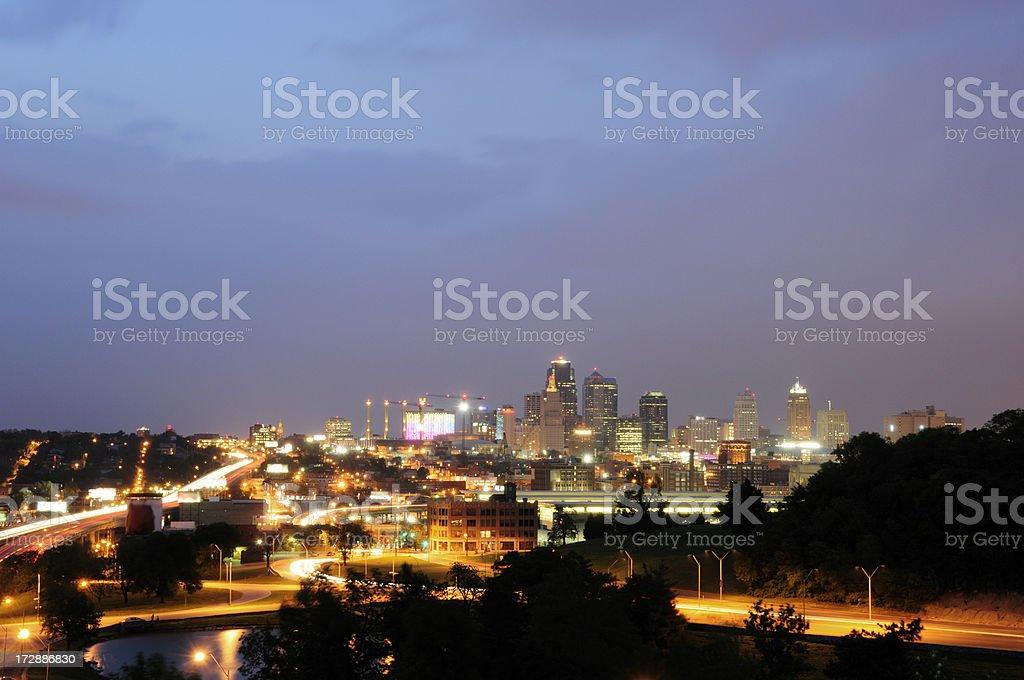 Kansas City Skyline at Twilight royalty-free stock photo