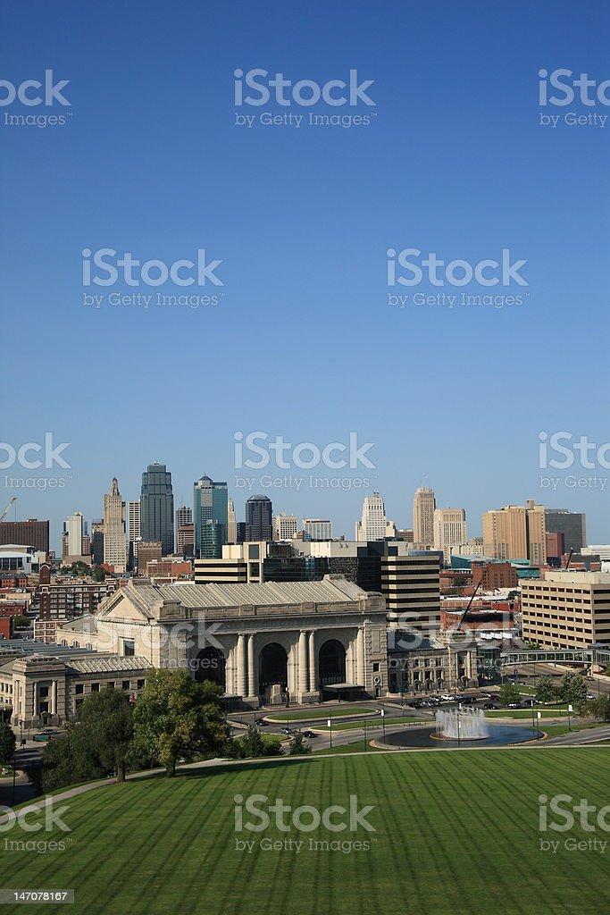 Kansas City Skyline royalty-free stock photo