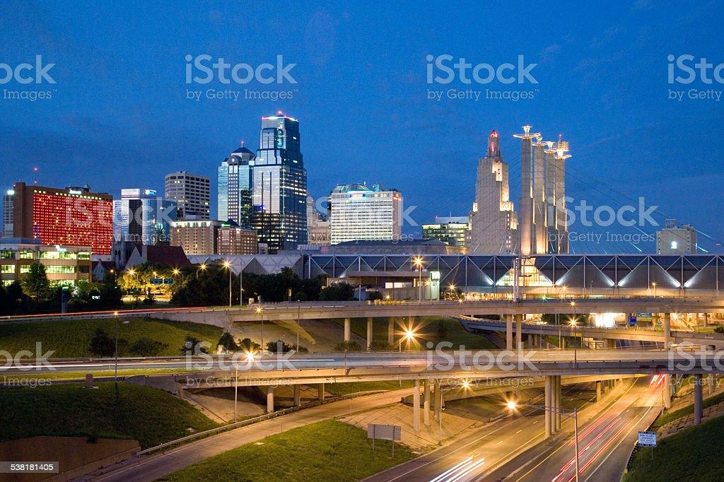 Kansas City Skyline stock photo