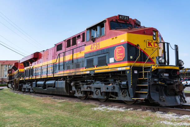 Kansas City Southern de Mexico Locomotive stock photo