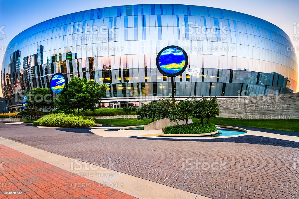 Kansas City Sprint Center Kansas City, Missouri on Aug 15th, 2015. Sprint Center is a large, multi-use indoor arena. The building is located on the east side of the Power & Light District and seats over 19,000. 2015 Stock Photo