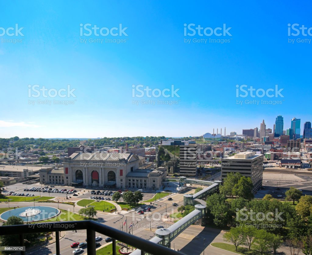 Kansas City Union Station Skyline stock photo