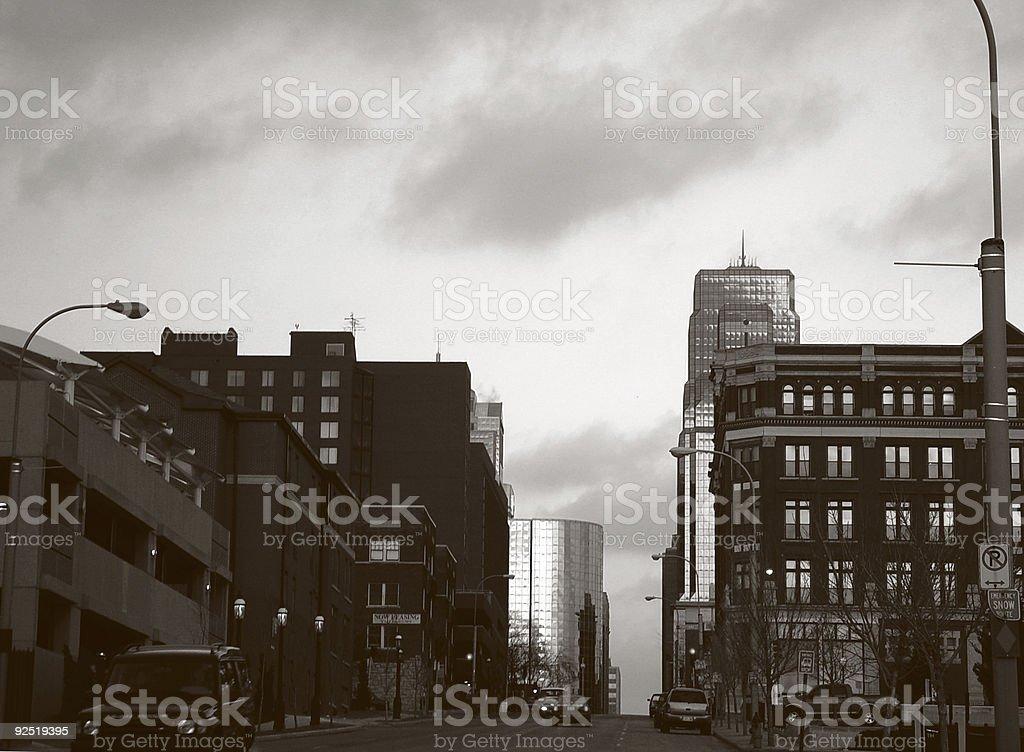 Kansas City urban scene royalty-free stock photo