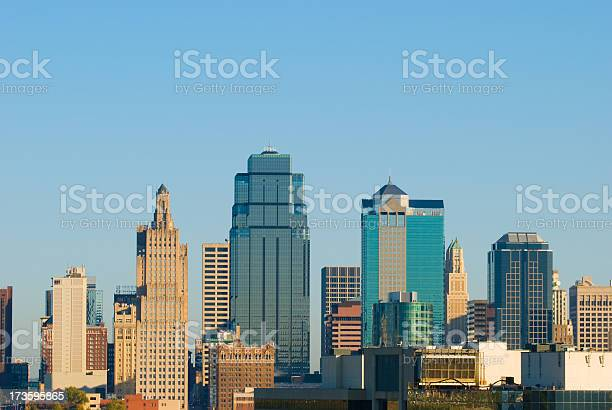 Kansas City's downtown skyline in the daytime