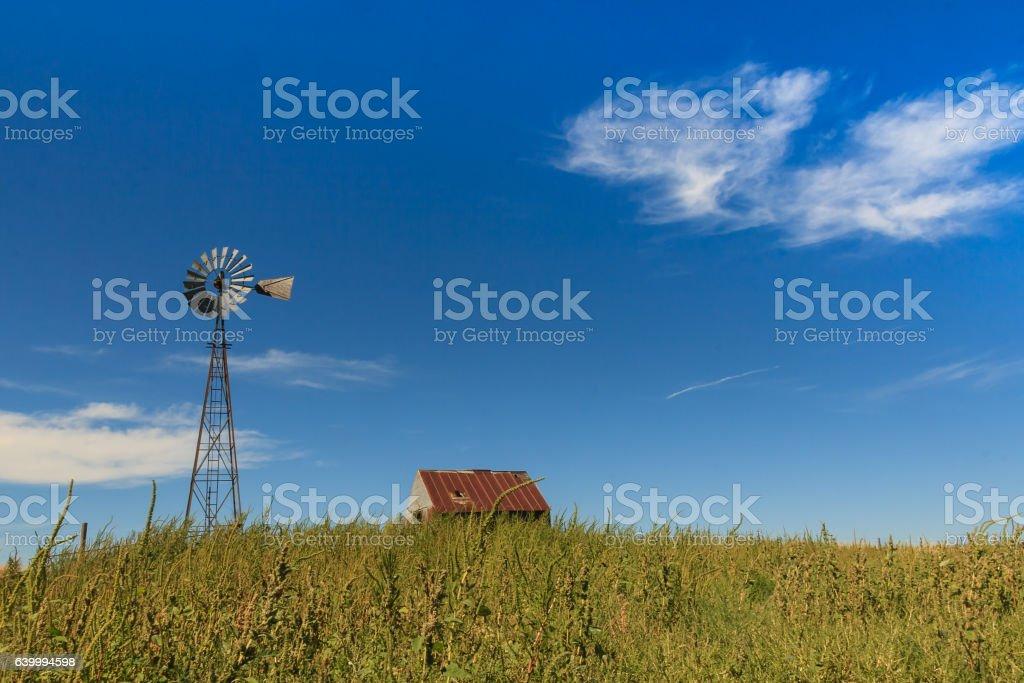 Kansas Landscape stock photo