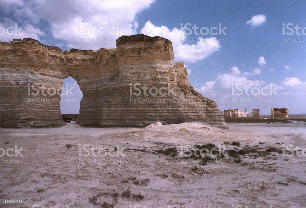 Kansas Monument Rocks royalty-free stock photo