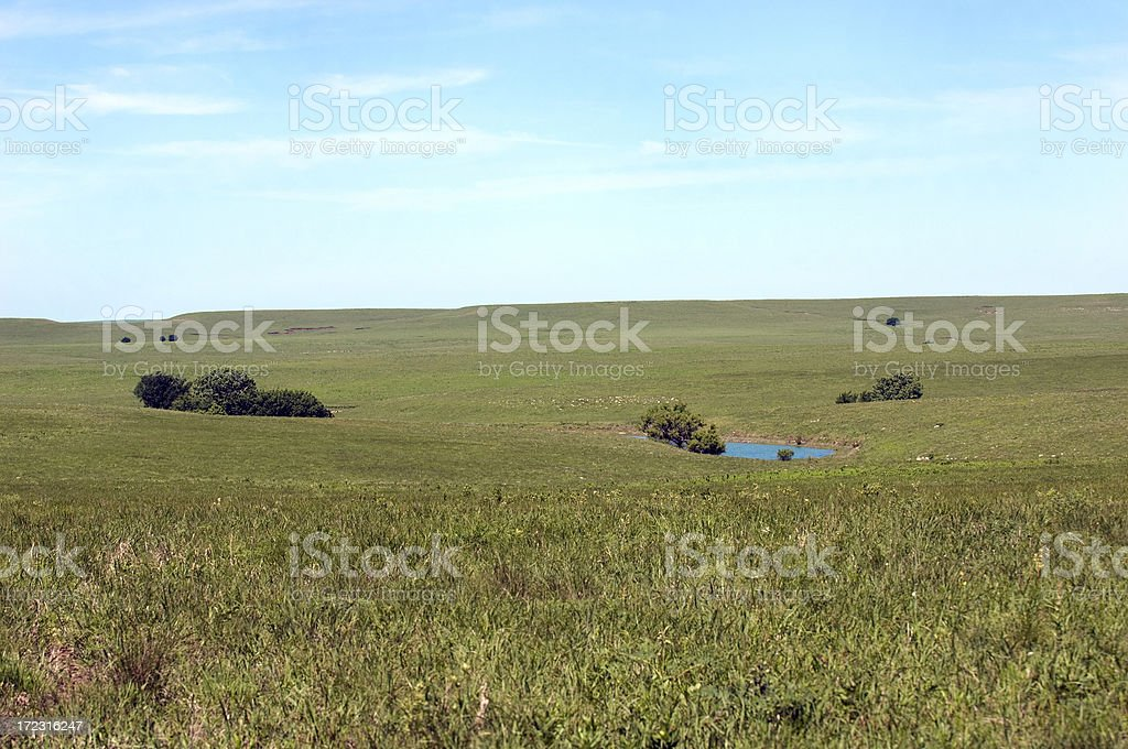 Kansas Prairie Landscape stock photo