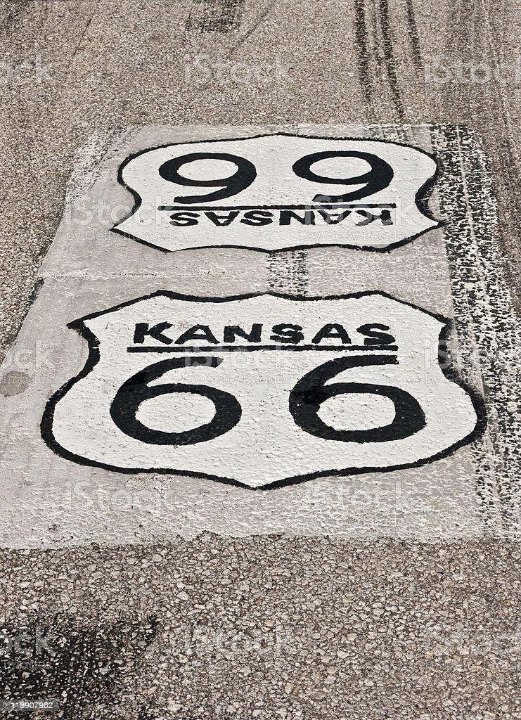 Kansas Route 66 royalty-free stock photo