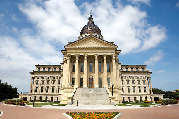 Kansas State Capitol Building Kansas State Capitol building located in Topeka, Kansas, USA. state capitol building stock pictures, royalty-free photos & images