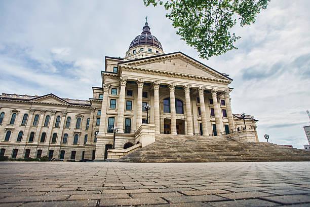 Kansas State Capitol Building stock photo