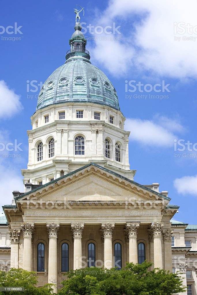 Kansas state capitol - Topeka royalty-free stock photo