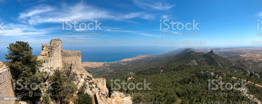 Kantara Castle - Karpasia in the Turkish Republic of Northern Cyprus - Royalty-free Castle Stock Photo