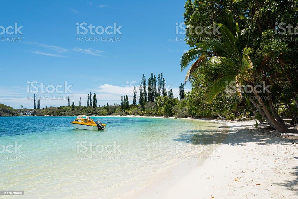 Kanumera bay on the Isle of Pines in New Caledonia stock photo