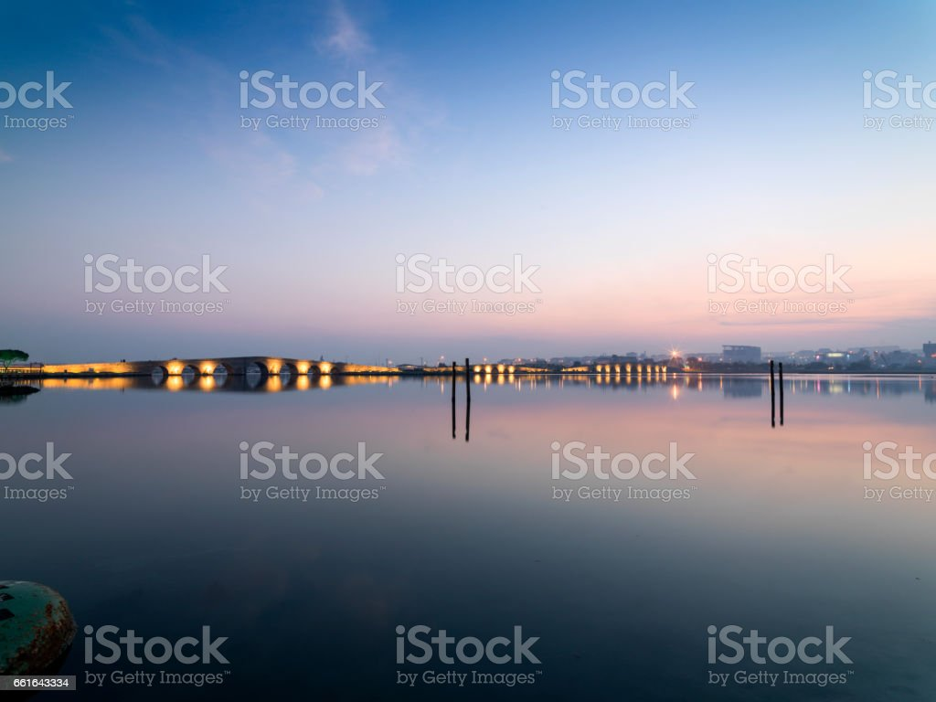 Kanuni Sultan Suleyman Bridge in Istanbul stock photo