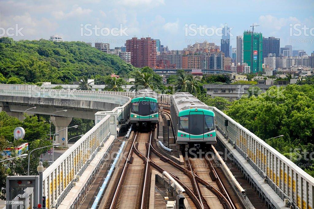 Kaohsiung mass rapid transit stock photo