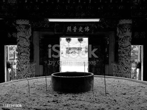 Kaohsiung, Taiwan August 8, 2018: At Zizhu Temple or Zizhu Temple, as it is known to have been built 300 years ago. Located in Kaohsiung, Taiwan, Republic of China
