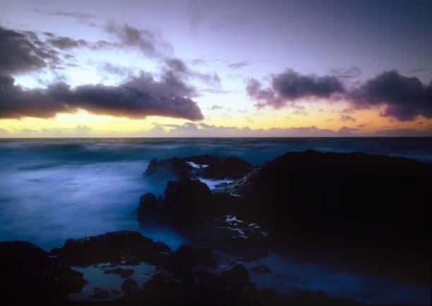 Kapaa Kauai Sunrise stock photo