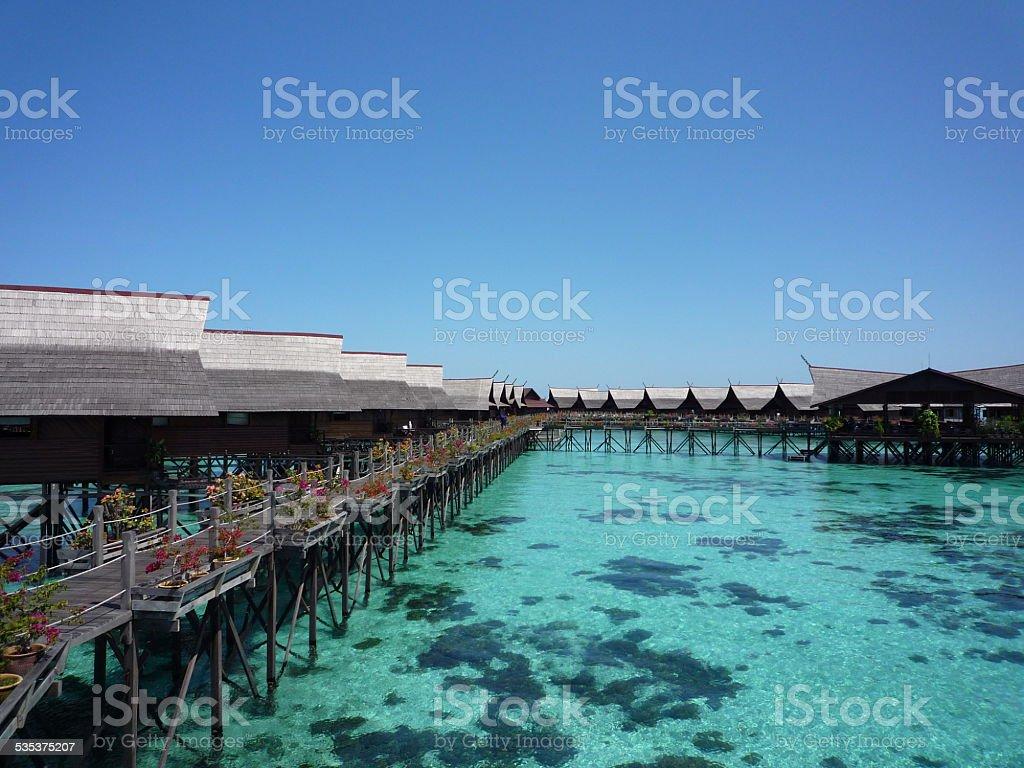 Kapalai Resort, Sabah, Malaysia stock photo