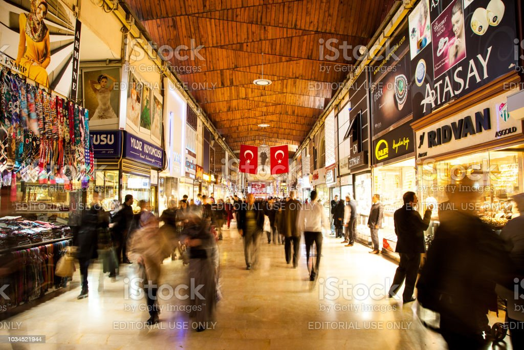 Kapali Carsi Which Is Famous Bazaar In Bursa Stock Photo - Download Image  Now