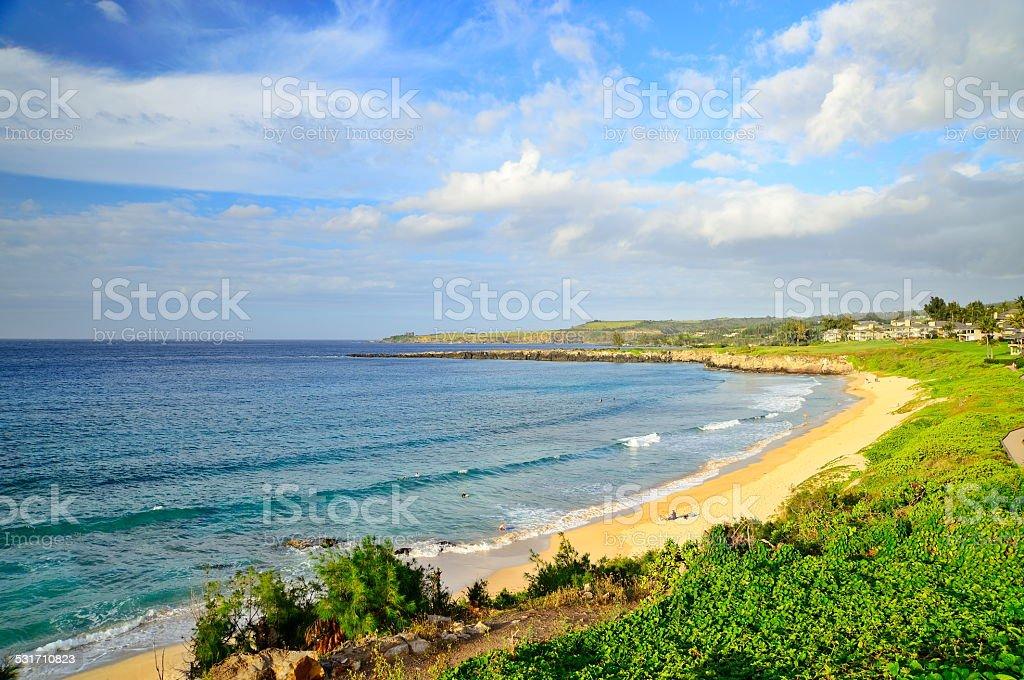 Kapalua Bay Beach stock photo