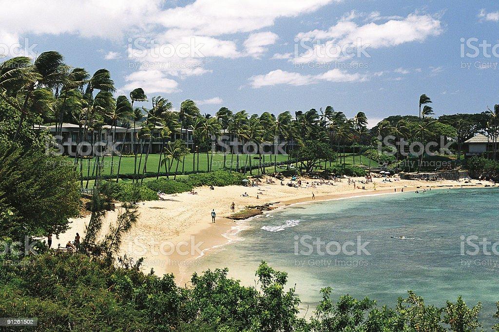 Kapalua beach Maui, Hawaii stock photo