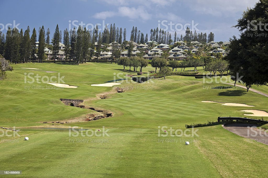 Kapalua Maui Golf Community stock photo