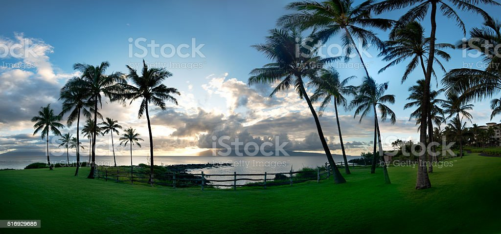 Kapalua Sunset stock photo