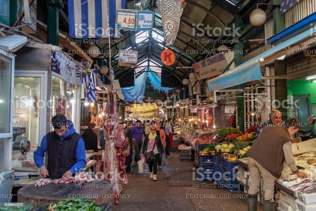 Kapani open public market shops. stock photo