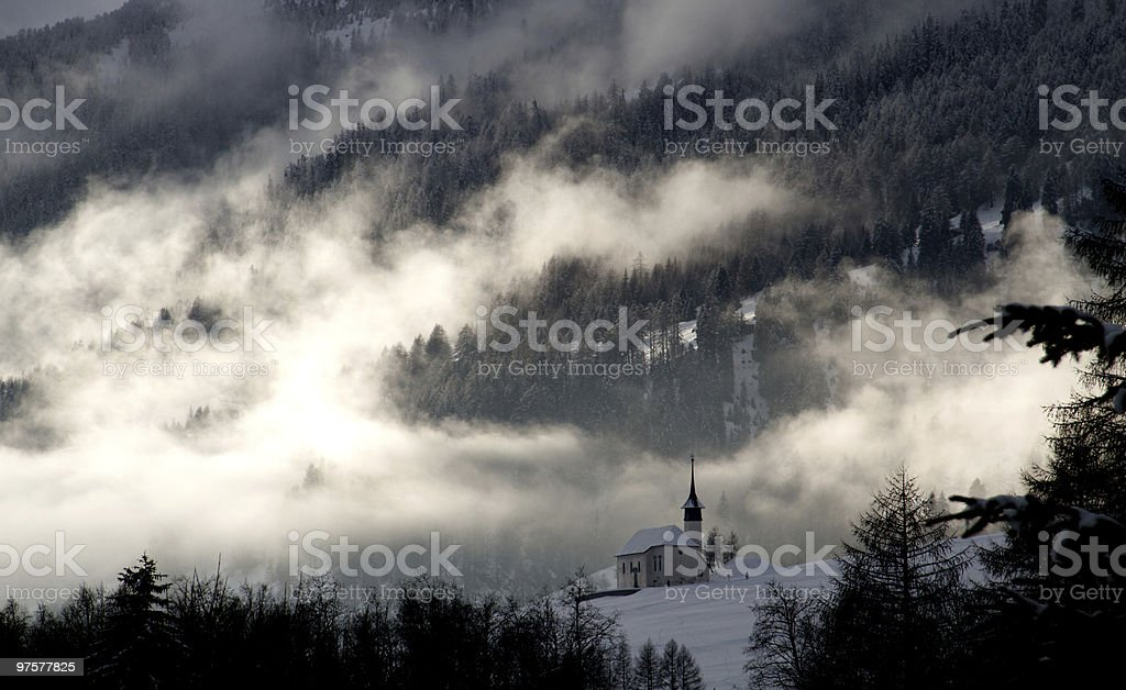 Kapelle im Schnee photo libre de droits
