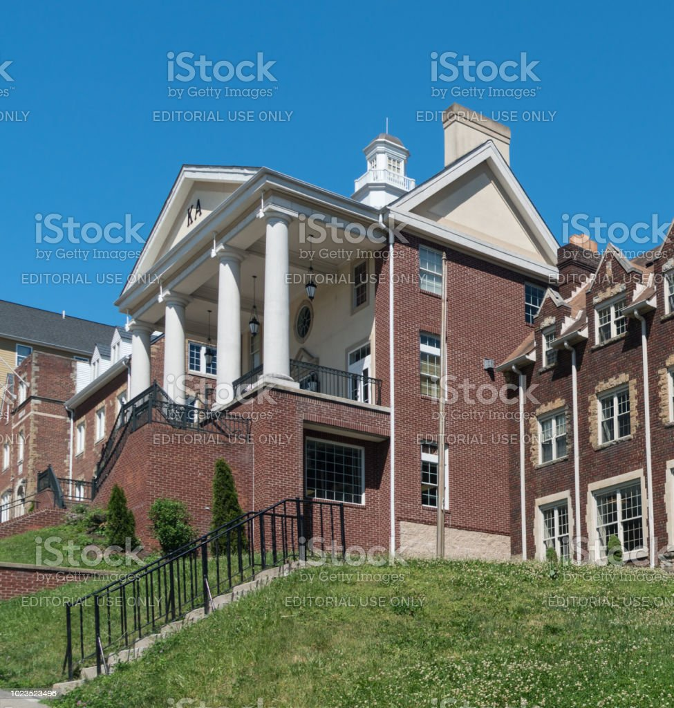 Kappa Alpha Greek Housing at West Virginia University stock photo