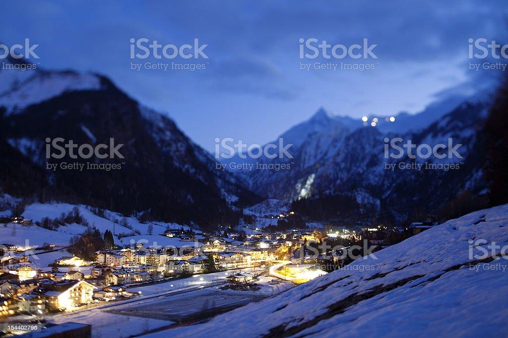 Kaprun village in Austia stock photo